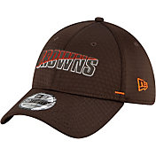 New Era Men's Cleveland Browns Brown Summer Sideline 39Thirty Stretch Fit Hat