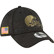 New Era Men's Salute to Service Cleveland Browns 39Thirty Stretch Fit Black Hat