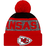New Era Men's Kansas City Chiefs Pom Knit Hat