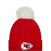 New Era Women's Kansas City Chiefs Red Flurry Knit Pom Beanie