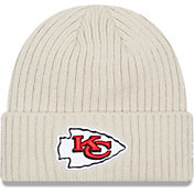 New Era Men's Kansas City Chiefs Core Cuffed Knit White Beanie