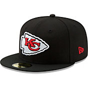 New Era Men's Kansas City Chiefs Black 59Fifity Logo Fitted Hat