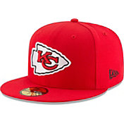 New Era Men's Kansas City Chiefs Red 59Fifity Logo Fitted Hat