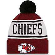 New Era Men's Kansas City Chiefs Red Banner Knit Pom Beanie