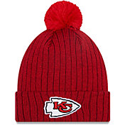 New Era Men's Kansas City Chiefs Red Breeze Knit Pom Beanie