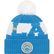 New Era Men's Los Angeles Chargers Sideline Sport Blue Knit Hat