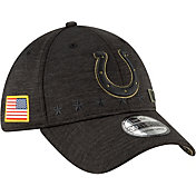 New Era Men's Salute to Service Indianapolis Colts 39Thirty Stretch Fit Black Hat