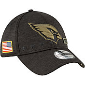 New Era Men's Salute to Service Arizona Cardinals 39Thirty Stretch Fit Black Hat