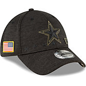 New Era Men's Salute to Service Dallas Cowboys 39Thirty Stretch Fit Black Hat