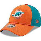 New Era Youth Miami Dolphins Aqua 9Forty Neo Adjustable Hat