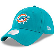 New Era Women's Miami Dolphins Aqua Glisten 9Twenty Adjustable Hat