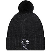 New Era Men's Atlanta Falcons Black Breeze Knit Pom Beanie