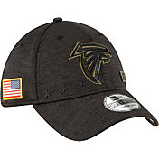 New Era Men's Salute to Service Atlanta Falcons 39Thirty Stretch Fit Black Hat