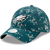 New Era Women's Philadelphia Eagles Green Blossom Adjustable Hat