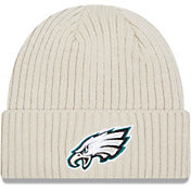 New Era Men's Philadelphia Eagles Core Cuffed Knit White Beanie