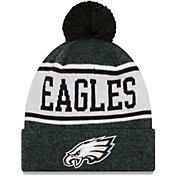 New Era Men's Philadelphia Eagles Green Banner Knit Pom Beanie