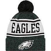 New Era Youth Philadelphia Eagles Green Banner Knit Pom Beanie