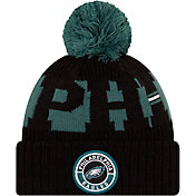 New Era Men's Philadelphia Eagles Sideline Sport Green Knit Hat