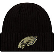 New Era Men's Salute to Service Philadelphia Eagles Black Knit Hat