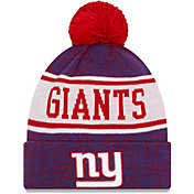 New Era Men's New York Giants Blue Banner Knit Pom Beanie