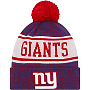 New Era Youth New York Giants Blue Banner Knit Pom Beanie