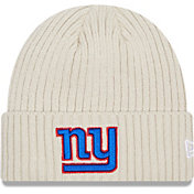 New Era Men's New York Giants Core Cuffed Knit White Beanie
