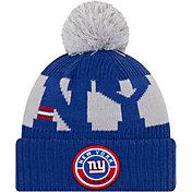 New Era Men's New York Giants Sideline Sport Blue Knit Hat