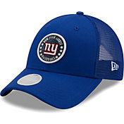 New Era Women's New York Giants Blue Sparkle Adjustable Trucker Hat