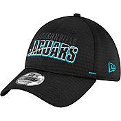New Era Men's Jacksonville Jaguars Black Summer Sideline 39Thirty Stretch Fit Hat