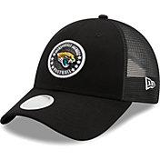 New Era Women's Jacksonville Jaguars Black Sparkle Adjustable Trucker Hat
