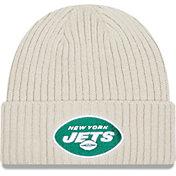 New Era Men's New York Jets Core Cuffed Knit White Beanie