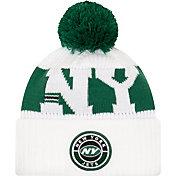 New Era Men's New York Jets Sideline Sport White Knit Hat