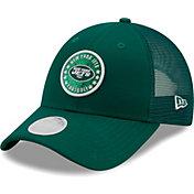 New Era Women's New York Jets Green Sparkle Adjustable Trucker Hat