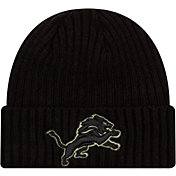 New Era Men's Salute to Service Detroit Lions Black Knit