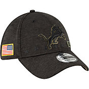 New Era Men's Salute to Service Detroit Lions 39Thirty Stretch Fit Black Hat