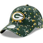 New Era Women's Green Bay Packers Green Blossom Adjustable Hat