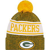 New Era Youth Green Bay Packers Green Banner Knit Pom Beanie