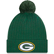 New Era Men's Green Bay Packers Green Breeze Knit Pom Beanie