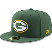 New Era Men's Green Bay Packers Green 59Fifity Logo Fitted Hat