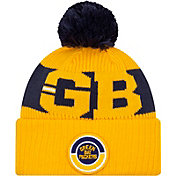 New Era Men's Green Bay Packers Sideline Sport Pom Knit