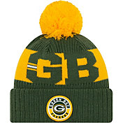 New Era Men's Green Bay Packers Sideline Sport Green Knit Hat