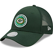New Era Women's Green Bay Packers Green Sparkle Adjustable Trucker Hat