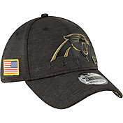New Era Men's Salute to Service Carolina Panthers 39Thirty Stretch Fit Black Hat