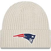 New Era Men's New England Patriots Core Cuffed Knit White Beanie