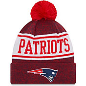 New Era Men's New England Patriots Navy Banner Knit Pom Beanie