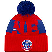 New Era Men's New England Patriots Sideline Sport Pom Knit Hat