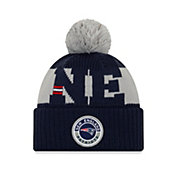 New Era Men's New England Patriots Sideline Sport Blue Knit Hat
