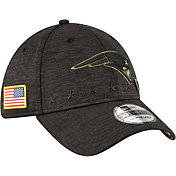 New Era Men's Salute to Service New England Patriots 39Thirty Stretch Fit Black Hat