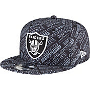 New Era Men's Las Vegas Raiders All-Over Print 9Fifty Adjustable Black Hat