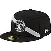 New Era Men's Las Vegas Raiders Stripe 59Fifty Black Fitted Hat
